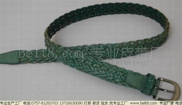 皮带名称:全手工绳子编织腰带